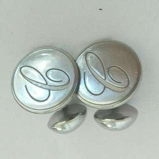 Silver Plated Cartier Replica Cuff Links
