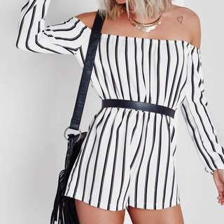Striped Playsuit Missguided