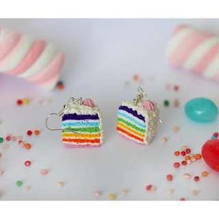 Rainbow Cake Earrings (181)