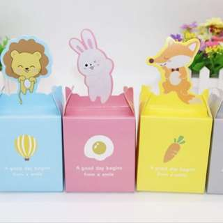 Ready Stocks 70 Pieces Baby Girl Pink Rabbit Door Gift Favors Box