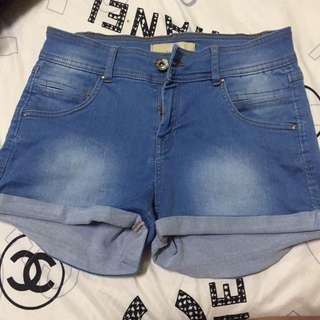 Bershka High waist denim shorts