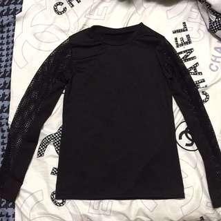 Black long sleeves (Fishnet Sleeves)