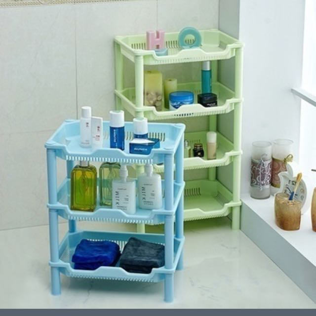 3 Tier Plastic Corner Shelf Organiser