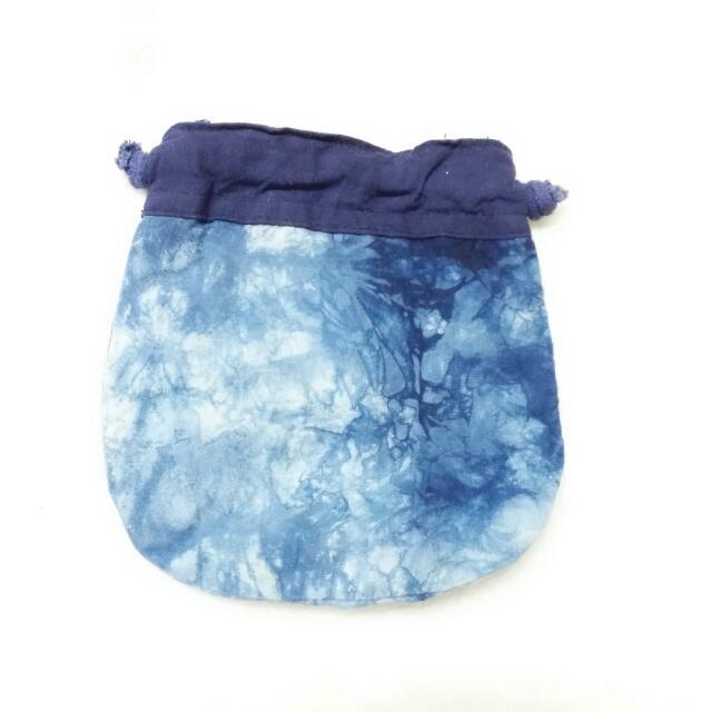 藍染束口袋