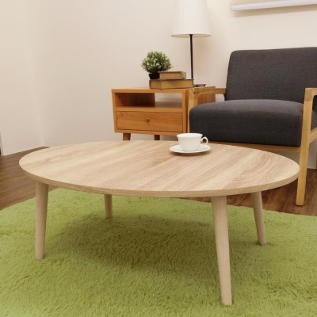 美學實木腳圓形茶几桌/和室桌/邊桌
