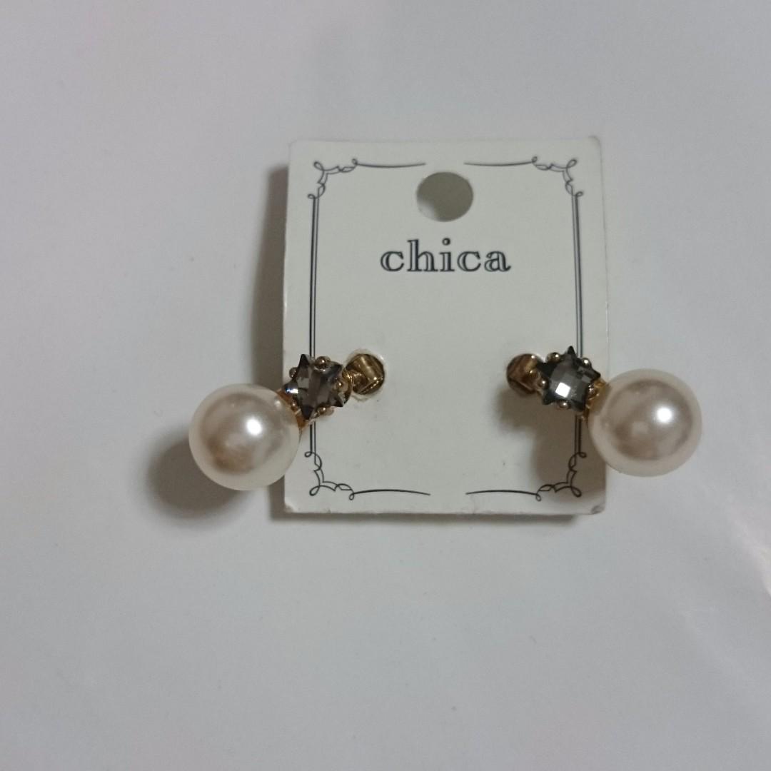 日本購入 珍珠夾式耳環