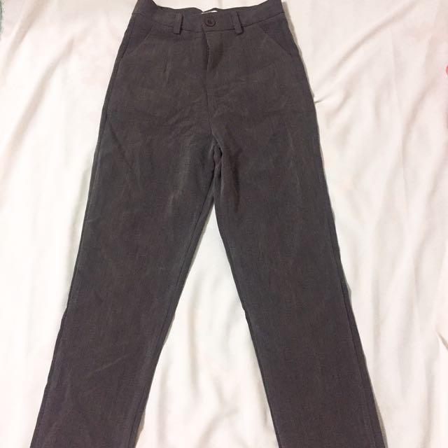 深灰色休閒西裝褲 全新