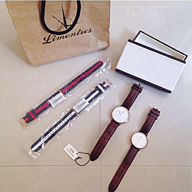 西門町專賣店購入 DW 經典款男女對錶