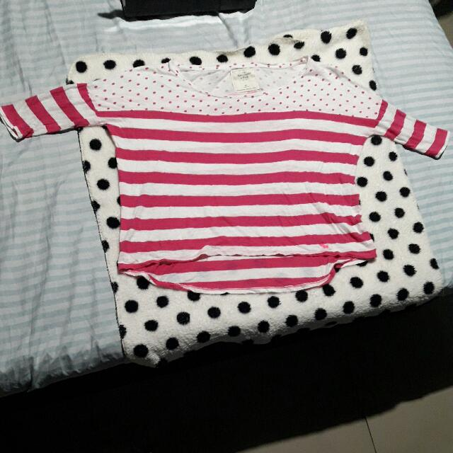 Abercrombie & Fitch, Pink Polka, Fits L to XL!