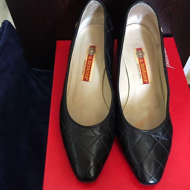 Authentic a.testoni Italy Lambskin Leather Heels