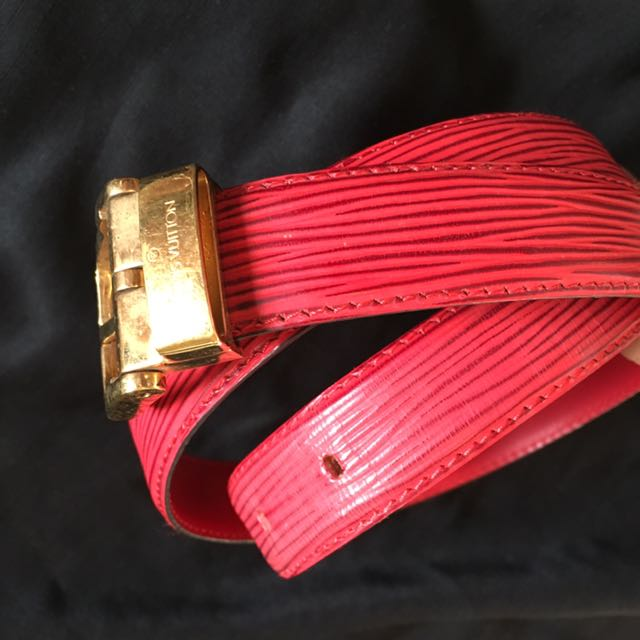 Authentic Louis Vuitton Belt With Gold Hardware