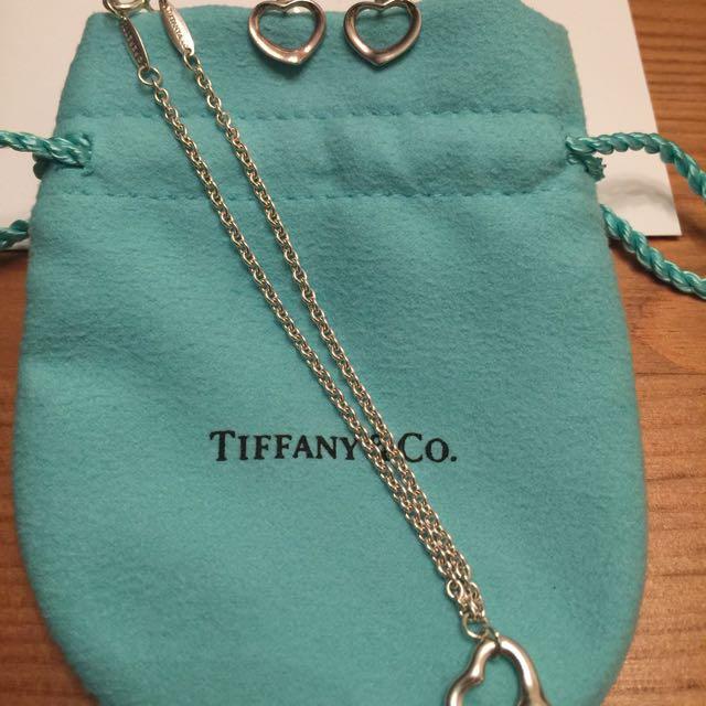 AUTHENTIC TIFFANY OPEN HEART SET!!