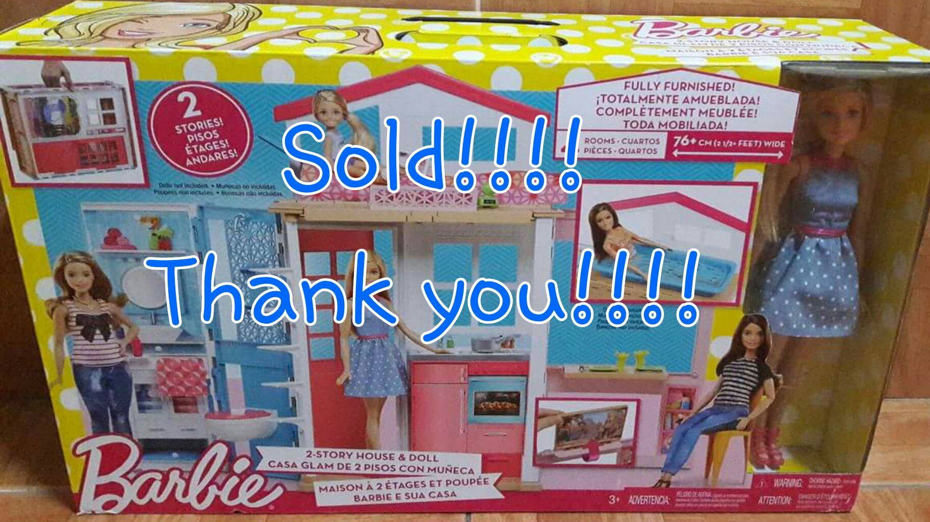 Barbie 2-Story House & Doll, Toys & Games, Toys on Carousell