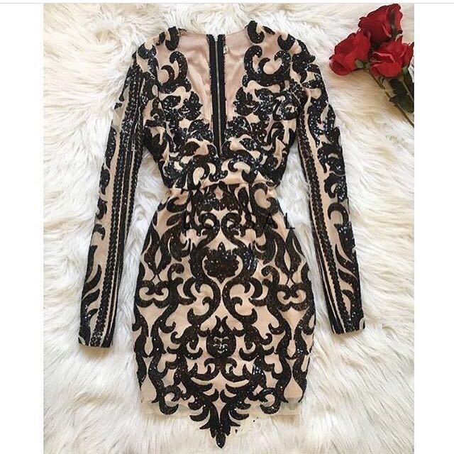 Beige And Black Dress Size Small