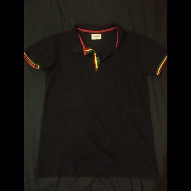 BENCH/ Black Polo Shirt