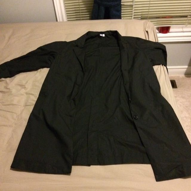 Uniqlo Black Trench Coat