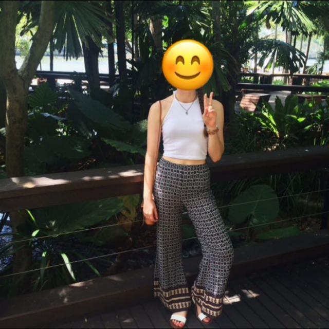 Bohemian Bell-Bottom Pants