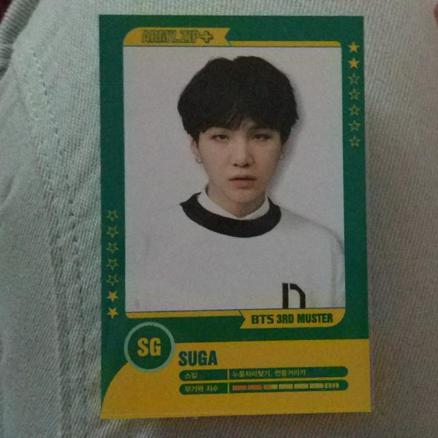 BTS SUGA 3RD MUSTER PLAYER CARD #2