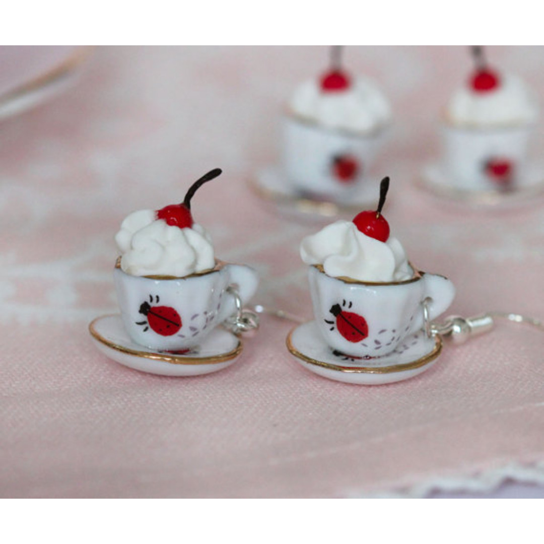 Cherry on The Cup Earrings (180)
