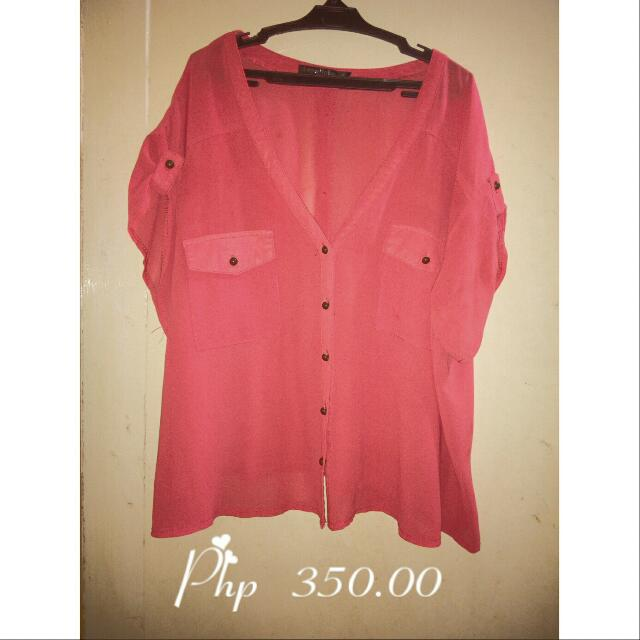 Sale Chiffon Blouse/Cover Up