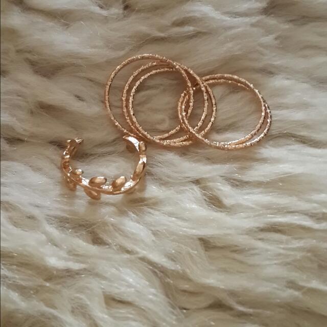 Cincin Daun Gold ( Isi 2)