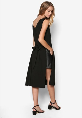 COLLECTION DOUBLE SLIT TUNIC WITH STRAPS