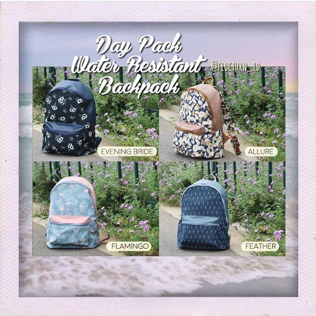 Day Pack Water Resistant Backpack / Ransel / Tas Punggung