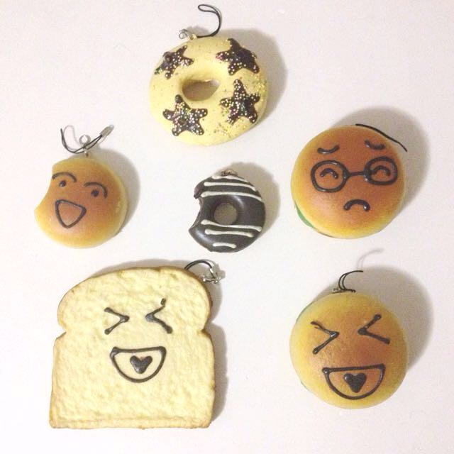 Donut, Bread, Hamburger Squishies