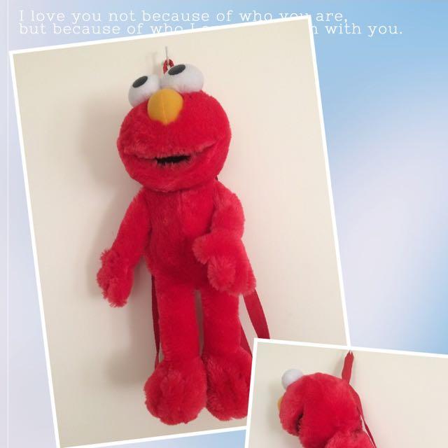 Elmo plush backpack