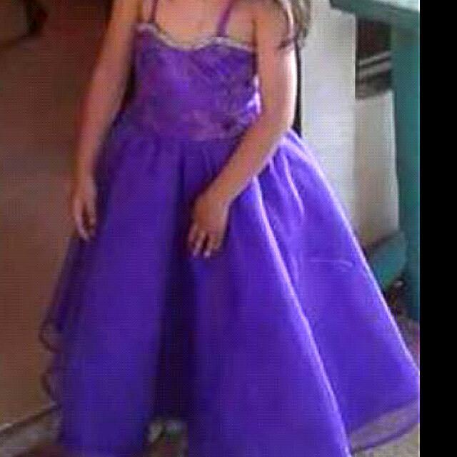 Flower Girl Couture Dress (Deep Purple)