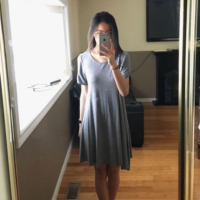 Forever 21 Pleated T Shirt Dress