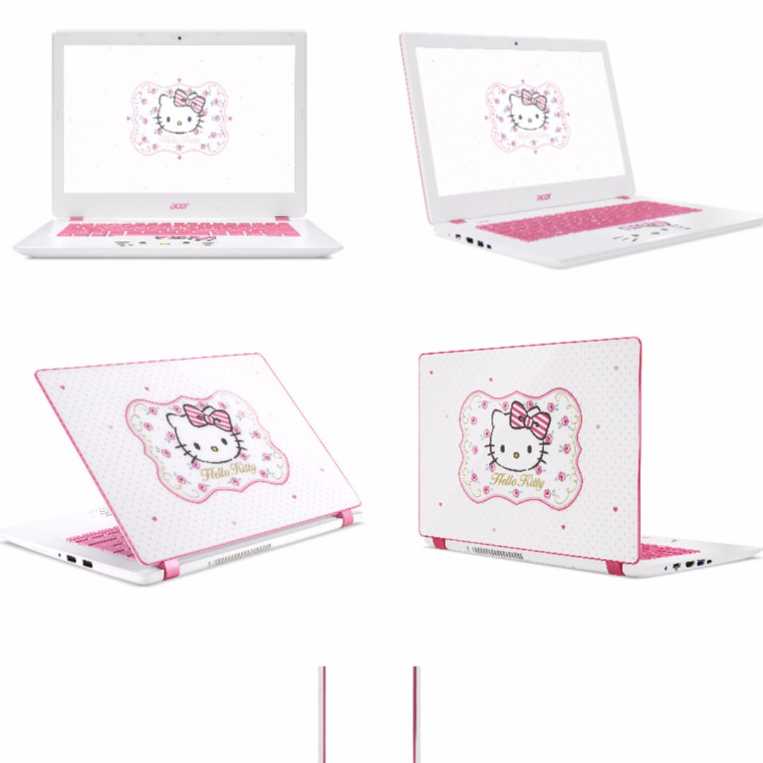 8c0c811fe FREE HOME DELIVERY / Acer Aspire V13 Hello Kitty Limited Edition Laptop,  Electronics, Computers on Carousell