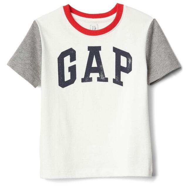 gap 男童logo 短袖上衣