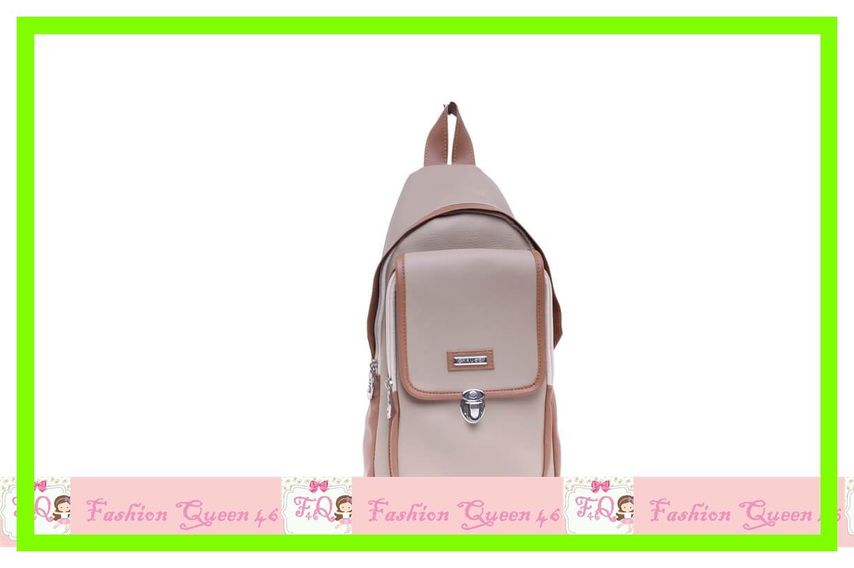 GARBG 5817 Tas Selempang   Cream Comb SLING BAG WANITA  TAN murah