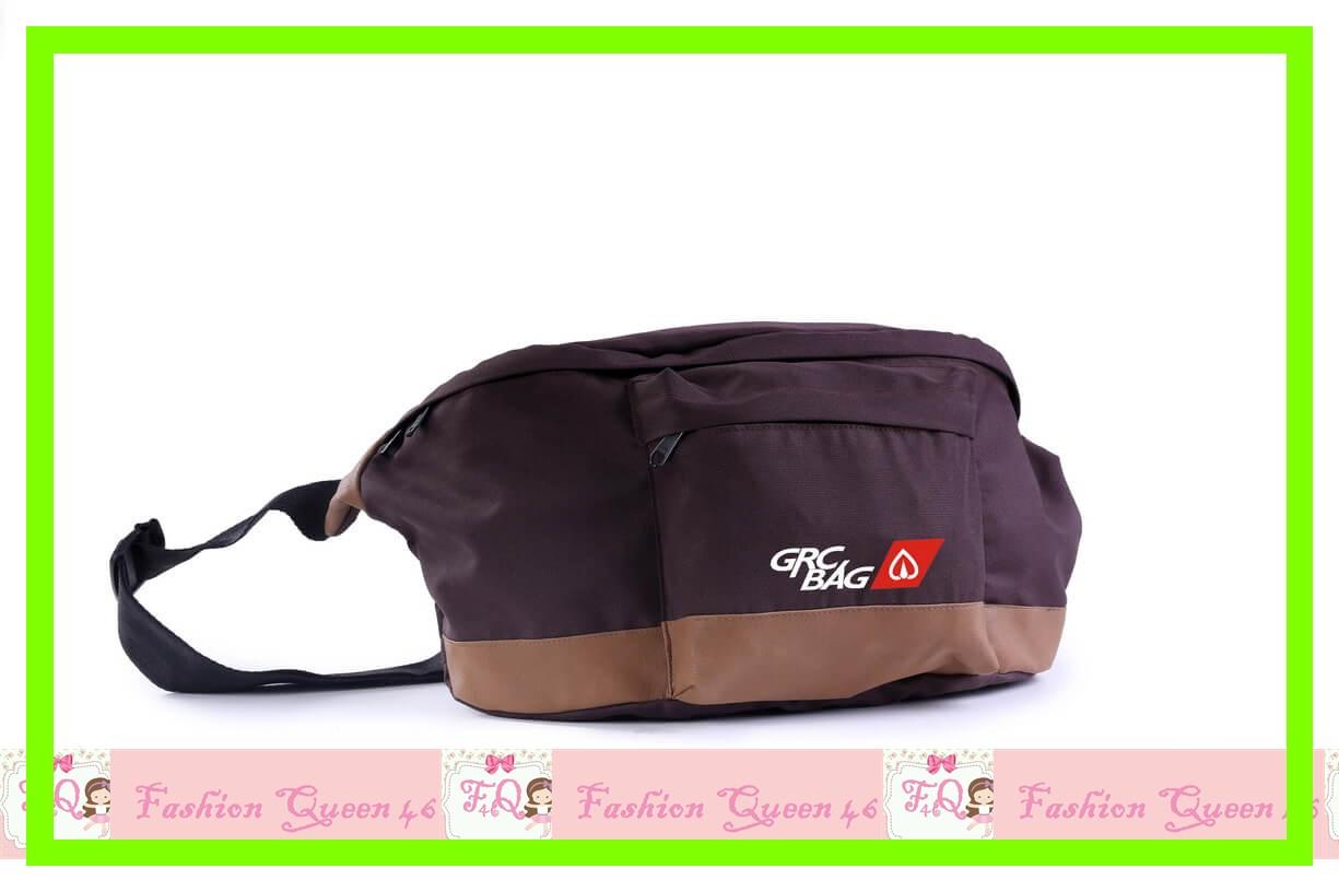 GARBG 5836 Tas Pinggang   Brown Comb SLING BAG WANITA  TANG murah