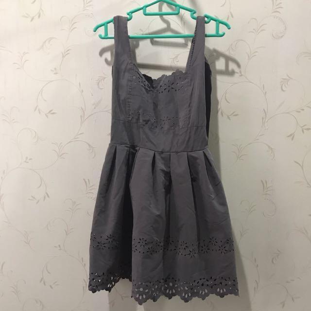 Grey Puffy Dress XS S 6 8