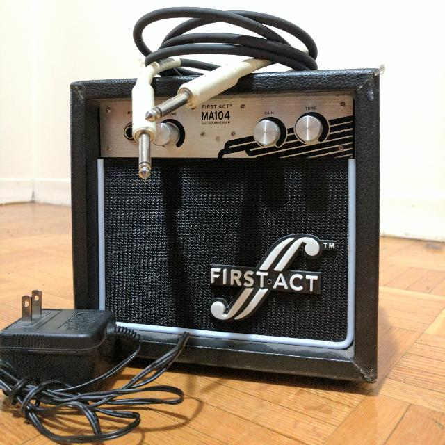 Guitar Amp + Instrument Cable