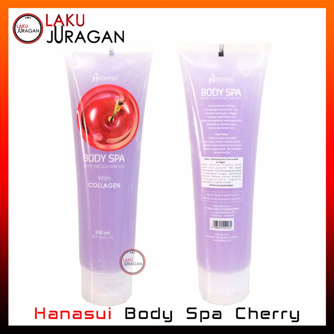 HANASUI BODY SPA CHERRY - PEELING GEL - PENGHILANG DAKI BPOM ORIGINAL
