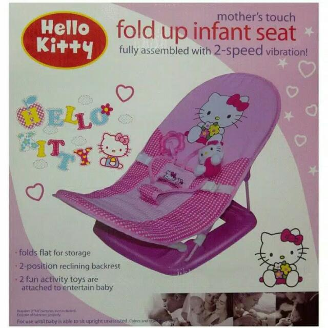 Hello Kitty Fold Up Infant Seat Kursi Bayi - New Cuma Buka Kardus