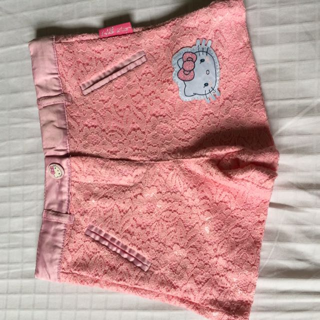 Hello Kitty Sanrio Pink Lacey Shorts