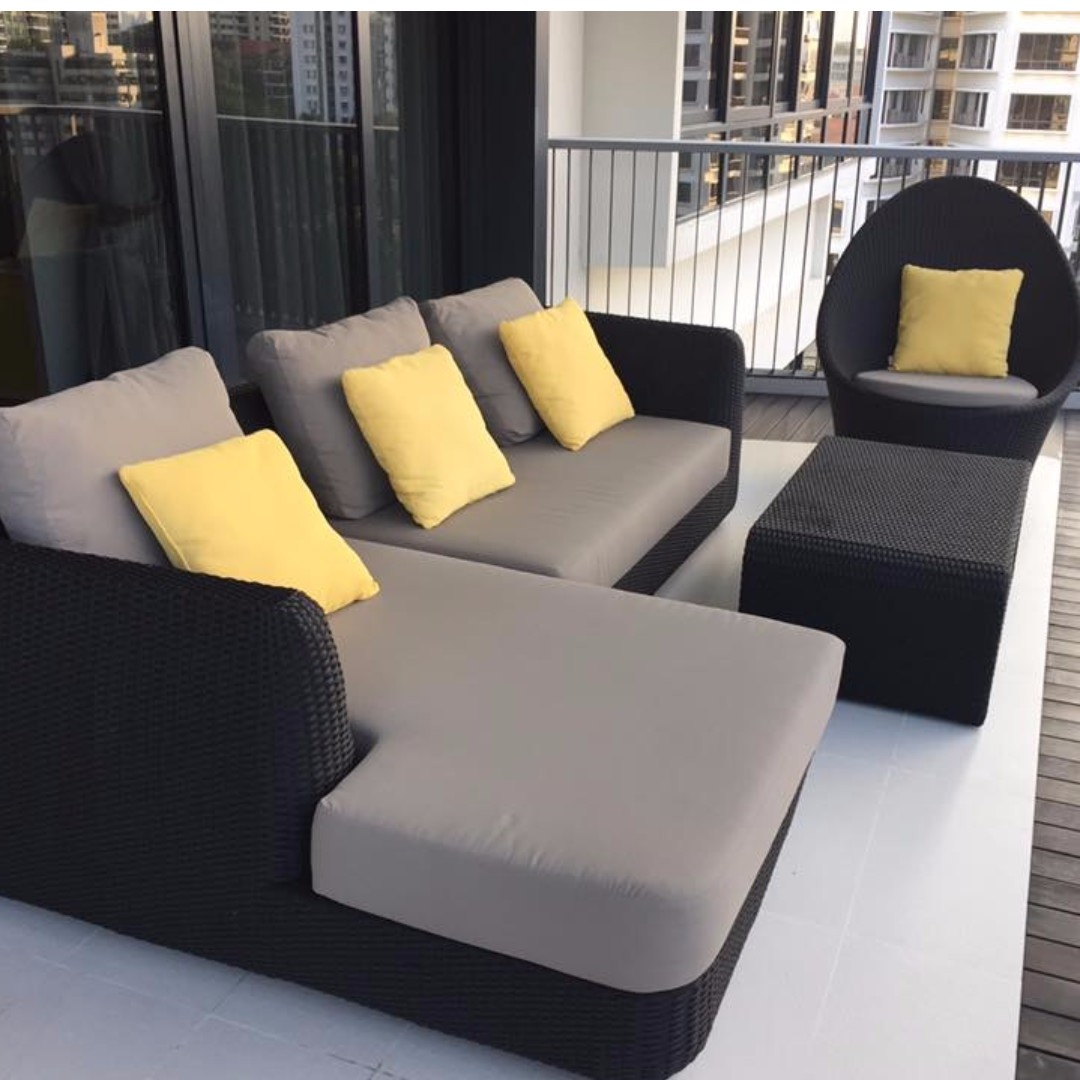 photo photo ... & High quality patio / balcony / outdoor furniture set in excellent ...