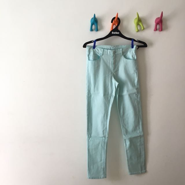 H&M Turquoise Jeans