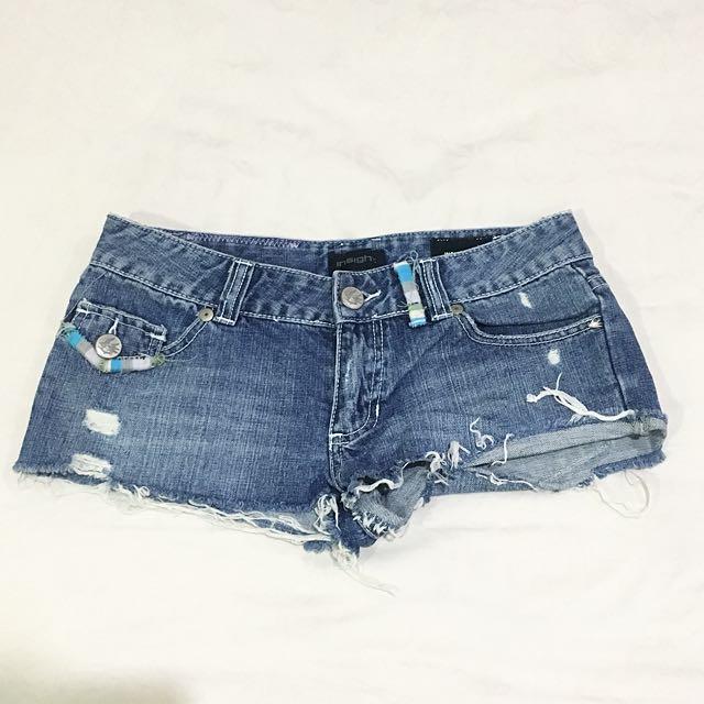 Insight Frayed Denim Shorts