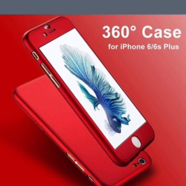 iPhone 6+ And 6s+ Slim Full Body Cover Case Red.