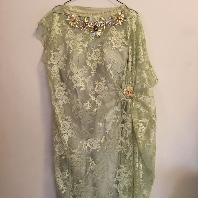 Lace Dress With Maha Beads