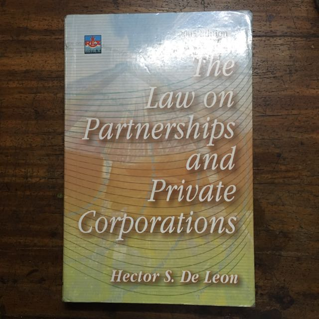 Law On Partnerships And Corporations