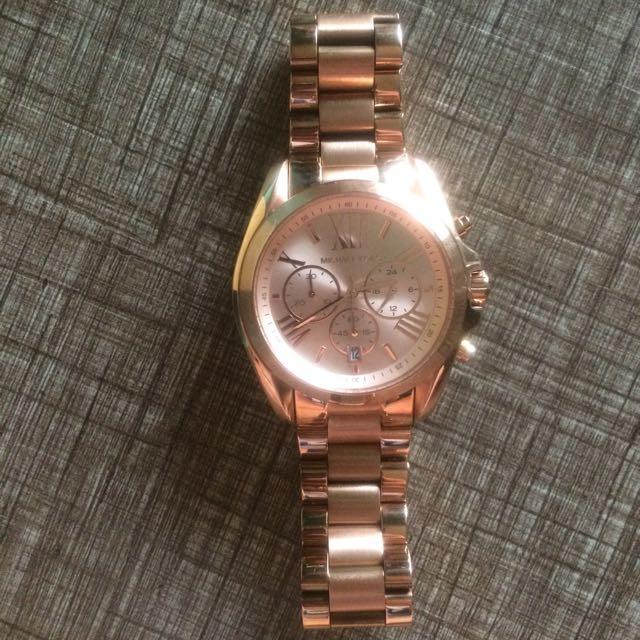 MICHAEL KORS Oversized Bradshaw Rose Gold-Tone Watch