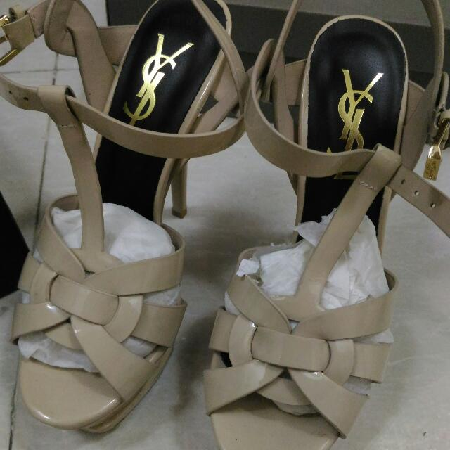 Mirror Quality YSL Shoes In Nude Patent