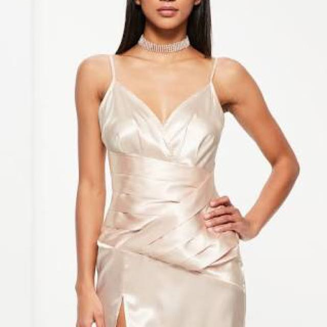 Miss guided Champagne Dress