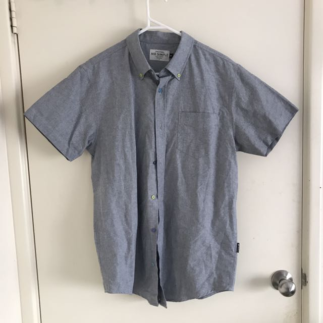 MR SIMPLE Button Up Top